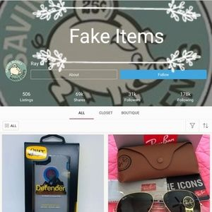 F.A.K.E Ray-Ban and Other Items